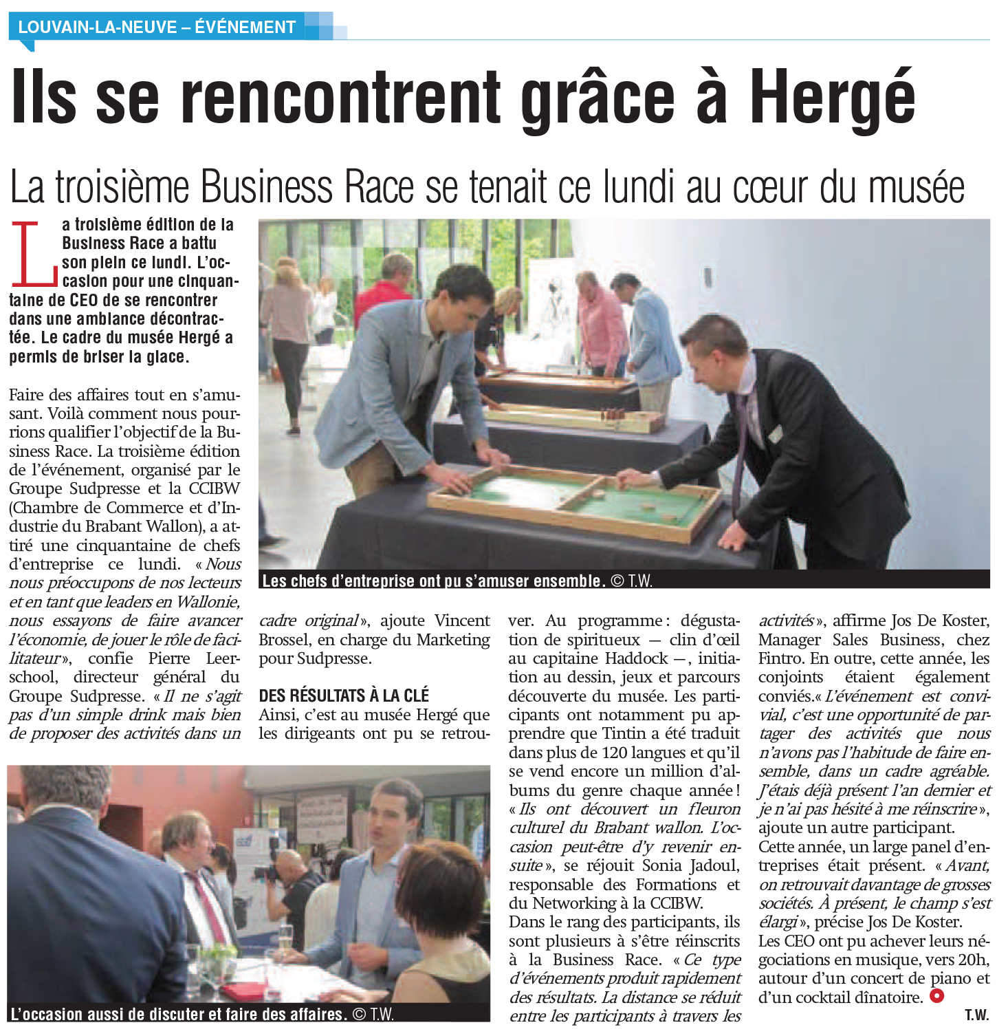 Article de la rédaction dans La Capitale 2017-05-16,BRABANT_WAL